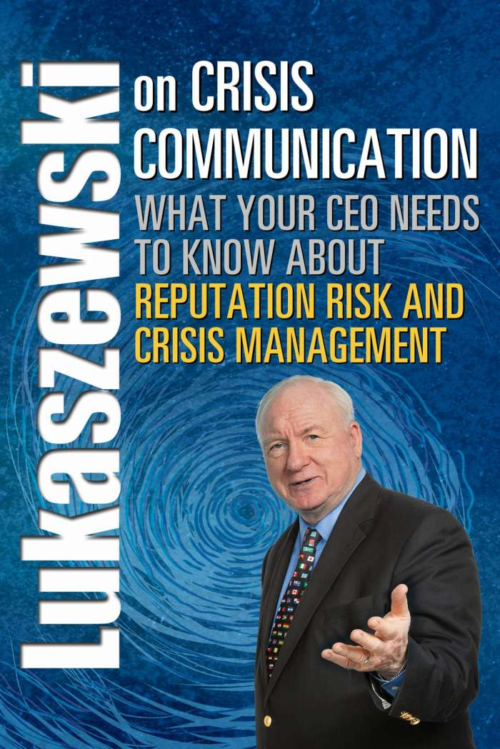 lukaszewski-crisis-communication-book-rothstein-publishing
