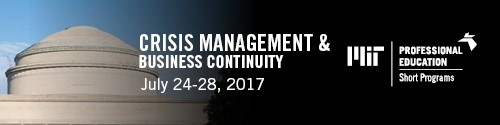 MIT's Crisis Management & Business Continuity Course