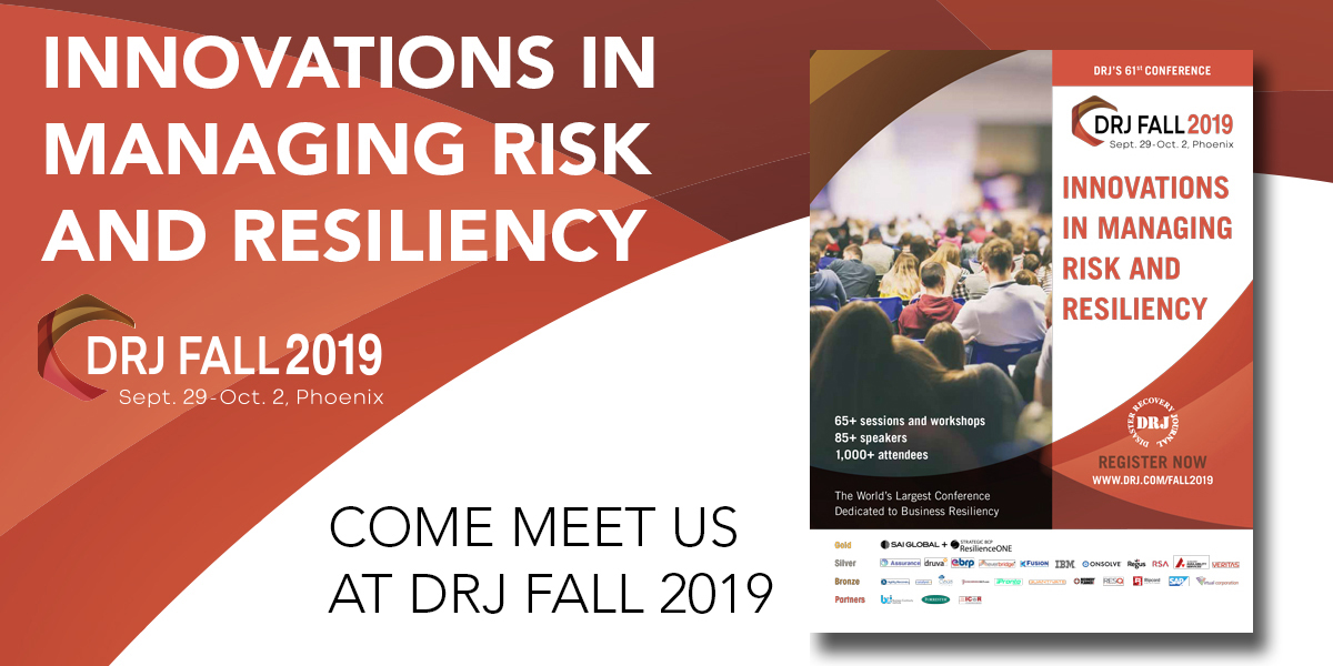 "Join us at DRJ Fall's ""Innovations in Managing Risk and Resiliency"""