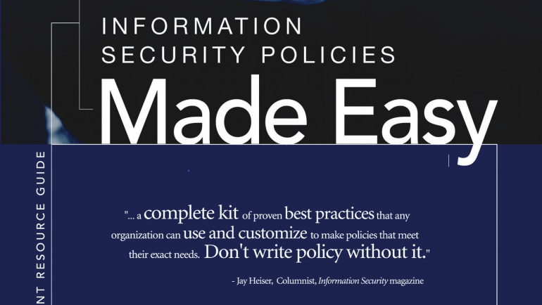 Information Security Policies Made Easy – Version 14 NOW AVAILABLE
