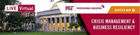 MIT Crisis Management & Business Resiliency Course — now offered online